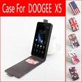 Doogee x5 hongbaiwei 2 ranuras para tarjetas tirón de arriba-abajo protege la caja de cuero para x5 mtk6580 quad core smartphone envío gratis + track