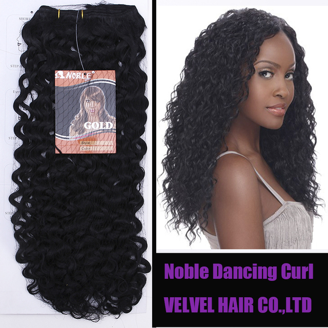 1pc Free Shipping Noble Gold Synthetic Hair Dancing Curl