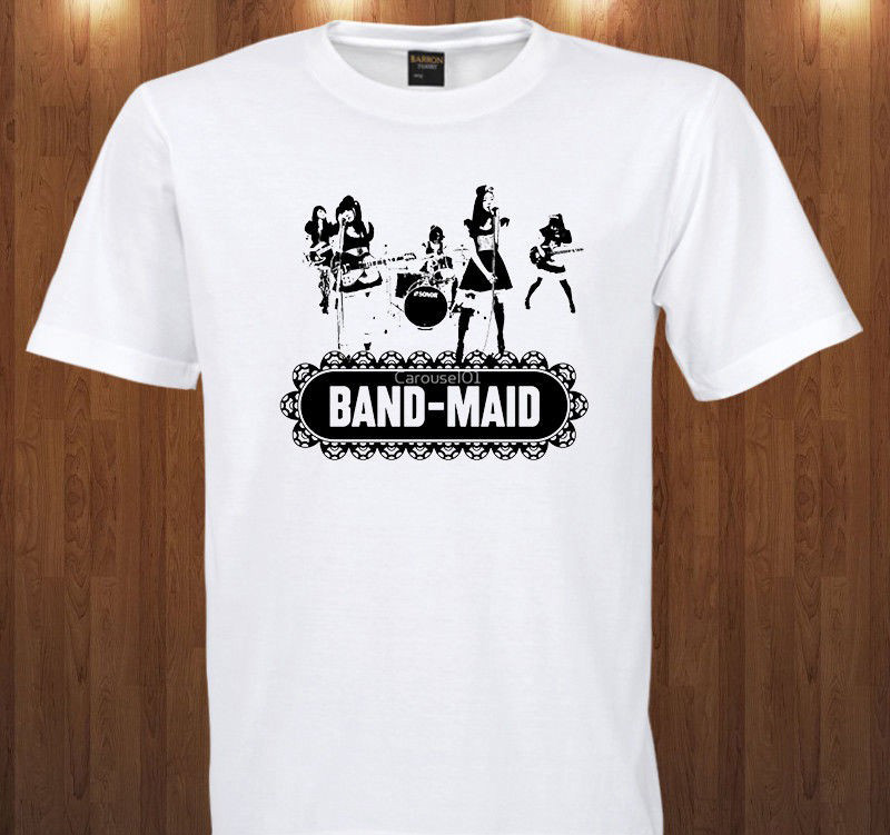 Band Maid Tees Japan Hard Rock Band Miku Kobato S M L Xl 2Xl 3Xl T Shirt T Shirt Hot Sale Clothes image