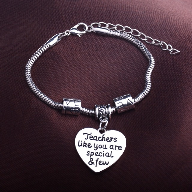Teachers Like You Are Special Few Love Heart Gifts For Teacher Charms Bracelet Jewelry Beads
