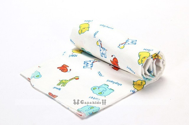 2Pcs/lot 76x76cm 100% cotton Flannel Baby Blanket Newborn  Super Soft Cartoon Blankets  baby  Receiving Blankets swaddle