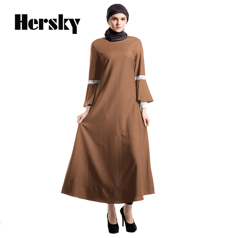 2018 Farmhouse style Abaya clothes turkey muslim women dress pictures turkish robe women islamic abayas dresses Dubai clothing