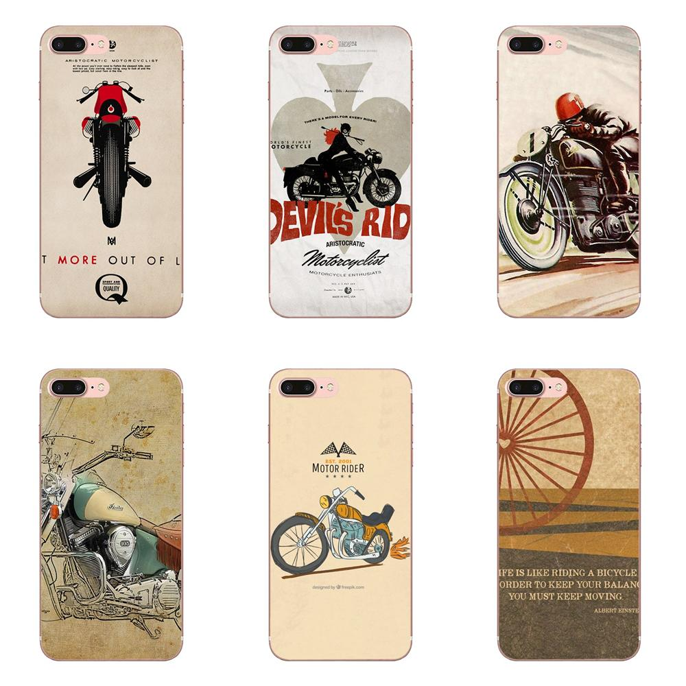For Motorcycle Motorbike Quote For Apple <font><b>iPhone</b></font> 4 4S 5 5C <font><b>5S</b></font> SE 6 6S 7 8 Plus X XS Max XR Soft Cover Cell Phone <font><b>Cases</b></font> image