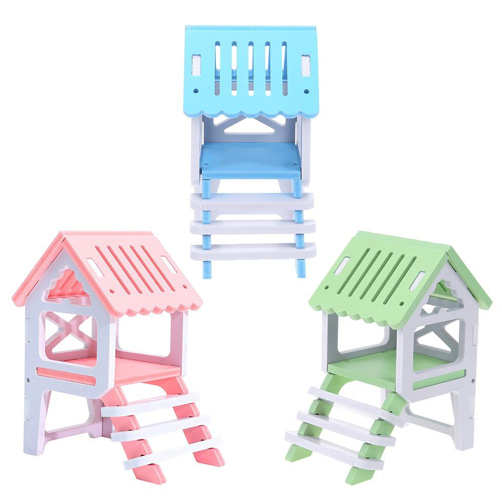 Pet House Supply New Fashionable Hamsters Toy Garret Colorful Beds Squirrels' Sleeping Loft Pet Toy Green Material