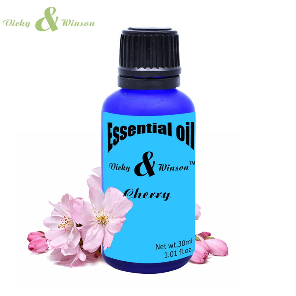 Vicky winson Cherry aromatherapy essential oils 30ml Prevent aging bright and compact skin make skin soft elastic deodorization in Deodorants Antiperspirants from Beauty Health