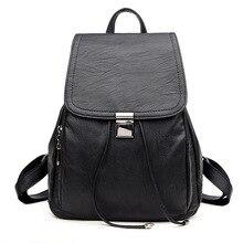 2017 модные женские туфли рюкзаки 5 цветов мягкий PU кожаные сумки на ремне ранцы для девочек женские рюкзаки Женская дорожная сумка F092
