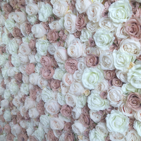 SPR Free Shipping blush white flower wall wedding backdrop artificial flower table runner and centerpiece decorativ floral