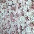 SPR livraison gratuite blush blanc fleur mur toile de fond de mariage fleur artificielle chemin de table et pièce maîtresse décoration florale
