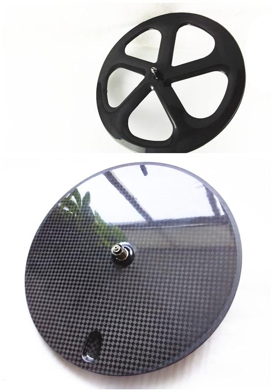 Spedizione gratuita fornte 5 razze posteriore a disco wheels700C carbonio powerway R13 ceramica 3 K 12 K UD opaco copertoncino tubolare/Fixed gear