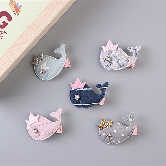 1 PCS  New Fashion Crown Fish Kids Hairpins Girls Hair Accessories Children Headwear Baby Hair Clips Princess Barrette baby cute style children accessories hairpins rabbit fur ear kids girls barrette lovely hair clip