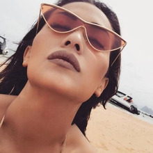 AFOFOO Fashion Cat Eye Sunglasses Women Brand Designer Vintage Sunglass Retro Ladies Sun Glasses Black Purple Color Pink Mirror