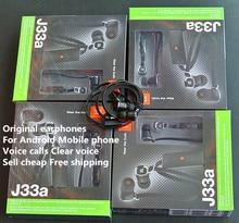 3.5 MM plug In-Ear écouteurs Originaux marque écouteur J33A casque Avec MICRO Pour HTC Samsung Hawei Android mobile téléphone Voix appel