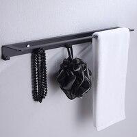 Bathroom Towel Bar Brushed SUS 304 Stainless Steel Bath Wall Shelf Rack Hanging Towel Hanger Contemporary Style 43001