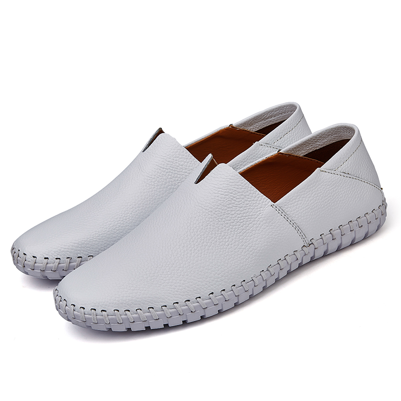 Mens Fashion Leather Business Casual Shoes Driving Soft Leather Feet Casual One Pedal Driving Shoes Formal Shoes