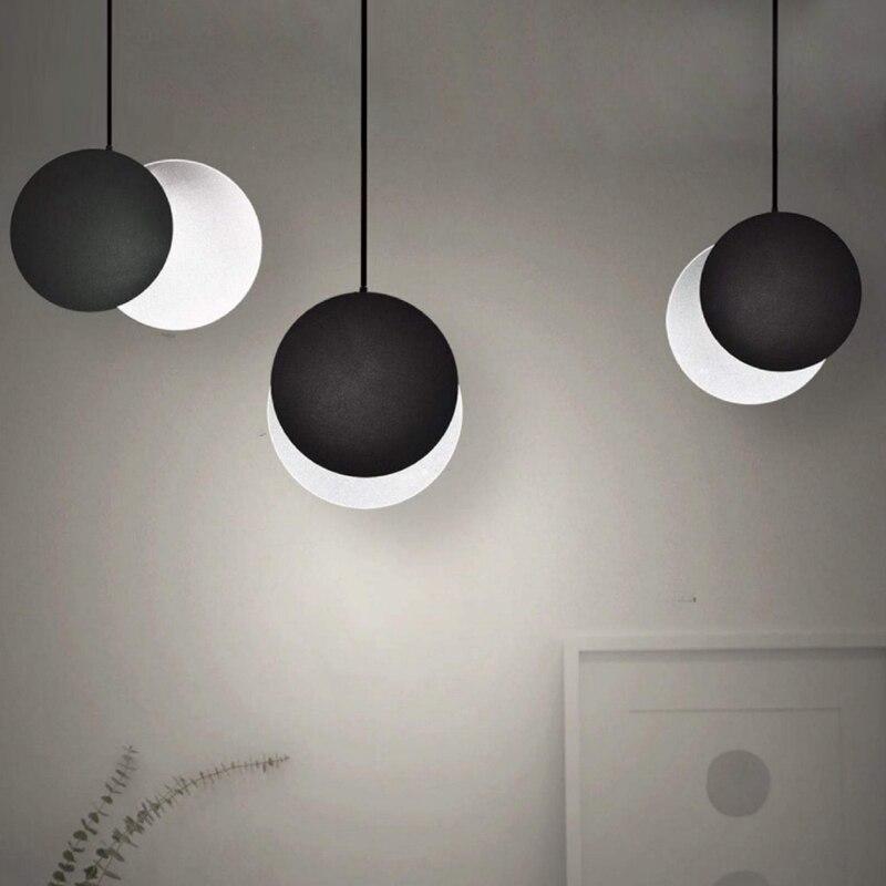 Nordic Moon Pendant Light art Decor hanging lamp Pendant ...