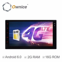 Quad Core Android 6.0 2G RAM 1024*600 Car Radio Stereo Player Wifi 4G LTE SIM Network 2din Universal Double 2 din Not DVD reader