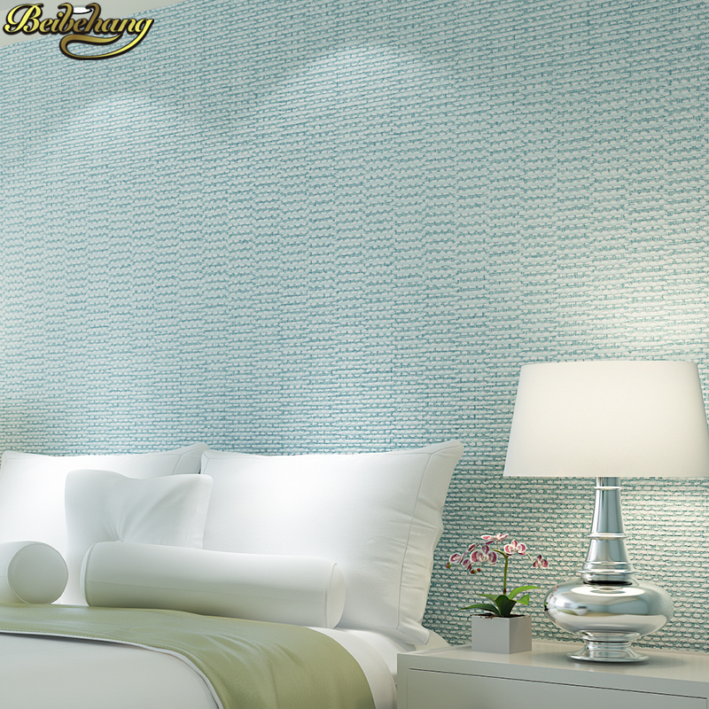 beibehang papel de parede para quarto Modern Solid wallpaper for walls 3 d Bedroom Living Room wall paper green blue background beibehang blue retro nostalgia wallpaper for walls 3d modern wallpaper living room papel de parede 3d wall paper for bedroom
