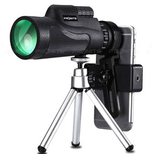Monocular Zoom 12x50 BAK4 Prism Telescope HD Mini Night Vision Hunting Scopes Turizm Spyglass WithPhone Holder/Tripod