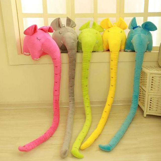 1/Pcs Sale Large Plush Elephant Toys Kids Sleeping Back Cushion Elephant Toys Cute Long Nose Elephant Toys For Children
