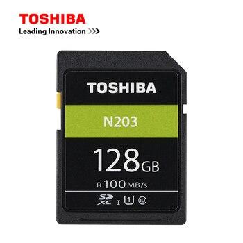 TOSHIBA SD Card 128GB 64GB SDXC 32GB SDHC UHS-I U1 Flash Memory SD Card Class10 100MB/S Camera Card For Full HD Digital SLR