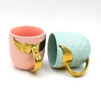 Little Mermaid Fish Tail Coffee Milk Tea Mug 3D Relief Scale Sea Maiden Golden Fishtail Dink Cup Artistic Sense Drinkware Gift