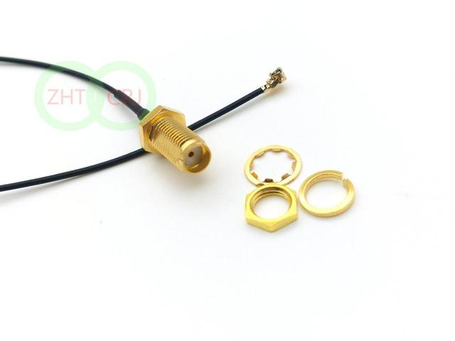 100pcs SMA female nut bulkhead to IPX U.FL female 1.13 cable pigtail adapter