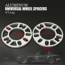 2PCS 8mm Universal Aluminum Alloy wheel spacers  4/5 Lug 8mm Thickness Wheel Spacer Gasket for Car Auto wheel spacers adapters