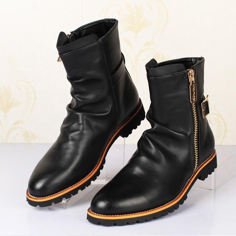 Men Warm Buty Wojskowe Winter Botas Militar Hombre New Soft Genuine Leather Military Boots Zipper 3#15/15D50