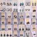 Free Shipping Fashion Jewelry Mixed  New Zealand Abalone Shell Dangle Earrings 1Pair U063-168