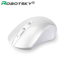 Silent Wireless Mouse 2.4G Ergonomic Mice 1600DPI Noiseless Button Optical Mice Computer Mouse with USB Receiver For PC Laptop(China)