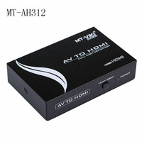 Hot MT VIKI AV to HDMI Converter RCA Component Analog Audio Video to HDMI Adapter FHD 720P 1080P Optional MT AH312