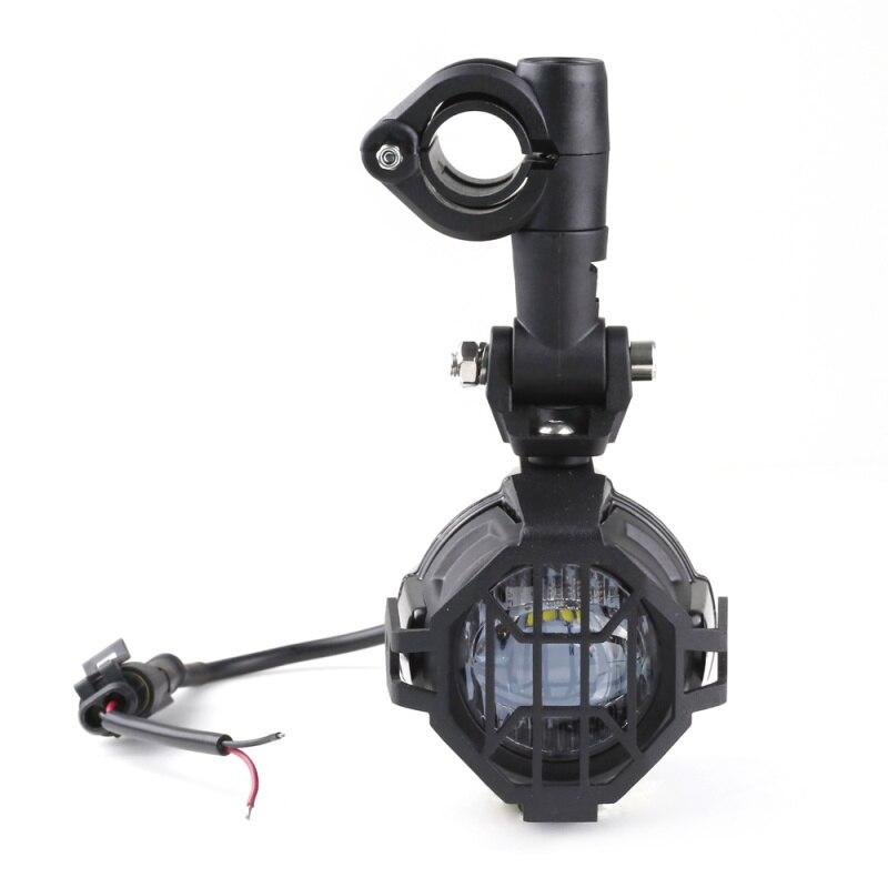FADUIES E9 2 pièces LED Spot auxiliaire lumière de conduite + 2Psc garde de protection + 1Psc commutateur câblage pour BMW moto R1200GS F800GS - 3
