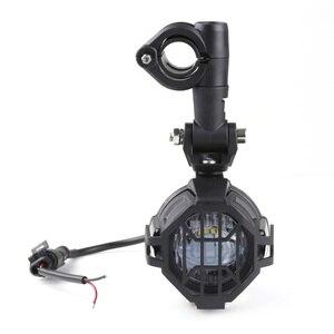 Image 2 - Фары дальнего света FADUIES E9 светодиодные дополнительные, 2 шт. + 2 Защитных кожуха + 1 шт. переключатель проводки для Мотоцикла BMW R1200GS F800GS