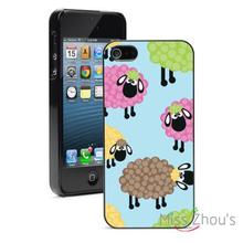 Colorful Sheep Protector back skins mobile cellphone cases for iphone 4 4s 5 5s 5c SE