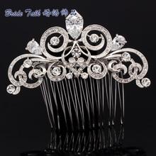Vintage Style Flower Hairpins Hair Comb Rhinestone Crystal Drop CZ Zircon Wedding Accessories Hair for Women