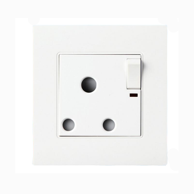 15A 250V South Africa Wall Sockets Home Wall Panel Power