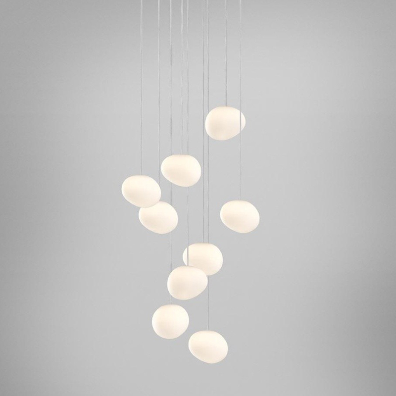Italy Foscarini Gregg Suspension Lamp Glass Pendant Lights Modern Led Irregular Hanging Lamp Dining Room Kitchen Light Fixtures