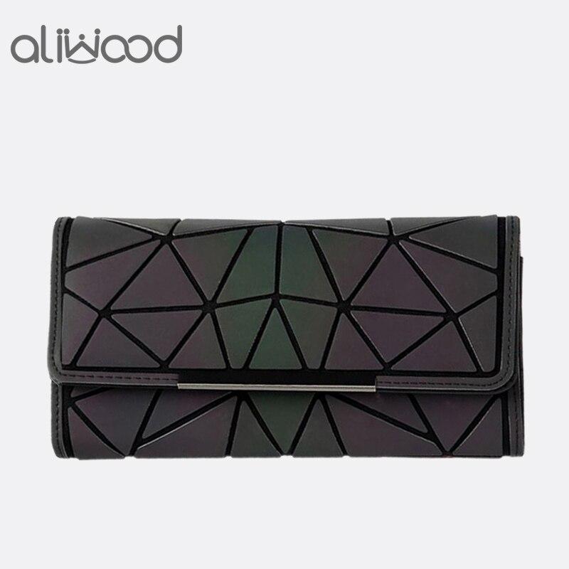 254107b174 Aliwood 2018 Hot Brand Bao Wallet Women Clutch Ladies Cards bag Fashion  Geometric Female bags Noctilucent