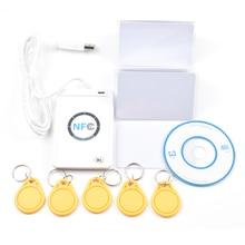USB ACR122U-A9 NFC считыватель писатель Дубликатор RFID смарт-карта+ 5 шт UID сменные карты+ 5 шт UID брелок+ 1 SDK CD