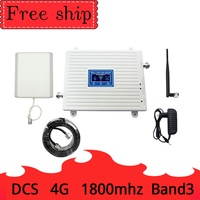 LTE DCS 4G 1800mhz signal booster cellular repeater single band3 mobile phone signal repeater 9dbi Outdoor Antenna