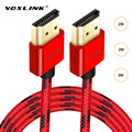 VOXLINK Hdmi 3FT/6FT/10FT Ultra High Speed HDMI Macho para macho com cabo Ethernet hdmi 1080 P HDMI 1.4 4 K 3D para PS3 BLURAY XBOX