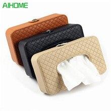 3 Farben Auto Sonnenblende Leder Box Clip Hohe Qualität Automotive Papierserviettenhalter Abnehmbare Tissue Box Cover