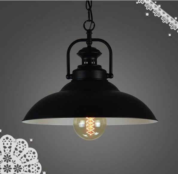 Aliexpress Com Buy Dining Room Retro Pendant Lamps: Aliexpress.com : Buy Loft Bar Black Iron American Vintage