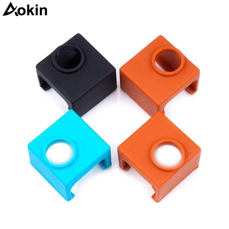 US $3 25 21% OFF|New V6 V5 Silicone Sock 3D printer Support V6 PT100  Original J head hotend 1 75/3 0mm Heated Block Extruder RepRap Prusa i3  MK3-in 3D