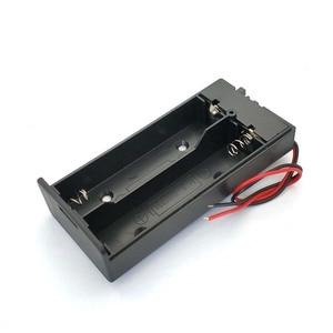 Image 4 - Caja de almacenamiento de batería de plástico negro 18650, 3,7 V, 2x18650, contenedor con 2 ranuras, interruptor de encendido/apagado, novedad