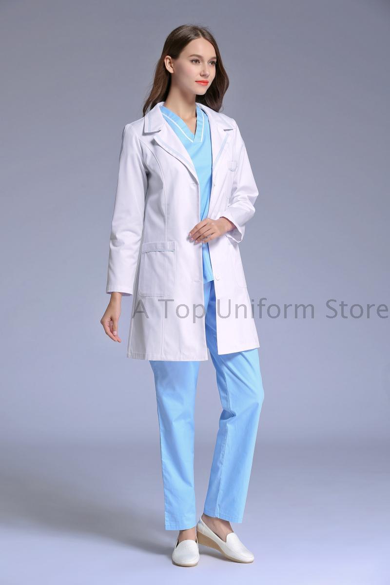 Back To Search Resultshome 2018 Women Medical Lab Coats Doctor Nurse Uniforms Hospital Nursing Scrub Overalls Clinic Beauty Salon Pharmist Workwear
