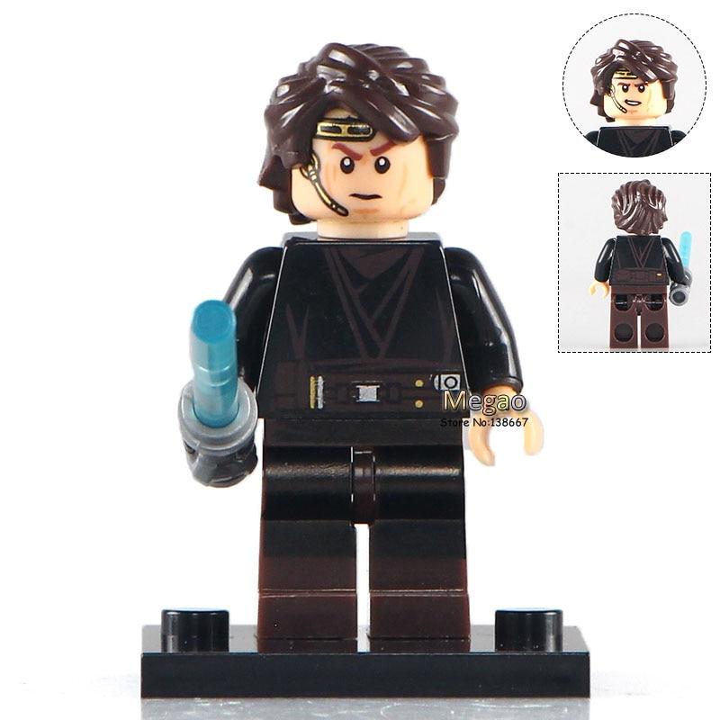 Fine Building Blocks Single Sale Xh333 Anakin Han Solo R4-p17 R2d2 Old Luke Skywalker Children Gifts Toys X0124 Blocks