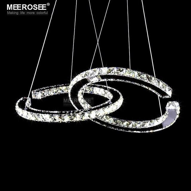 Gracens Modern Diamond Pendant Light Fixture LED Crystal Lustres For Dining Room