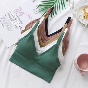 Bra Tube-Top Lingerie Tee Top-Tank Bandeau Crop-Tops Camis Seamless Streetwear Sexy Female