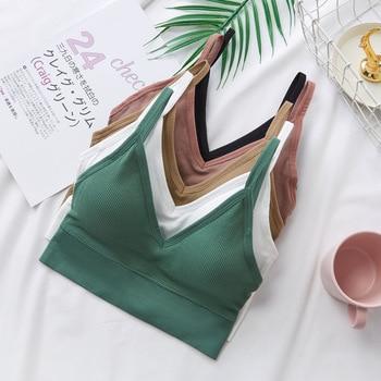 цена на Women Sexy Crop Tops Tube Top Female Streetwear Sleeveless Camis Seamless Sports Lingerie Tee Bra Crop Top Bandeau Top Tank
